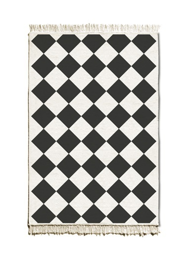 The Mia Kilim 120 x 80 Cm - Çift Taraflı Siyah